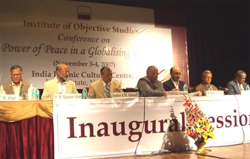 IOS CONFERENCE ON �POWER OF PEACE IN A GLOBALISING WORLD�